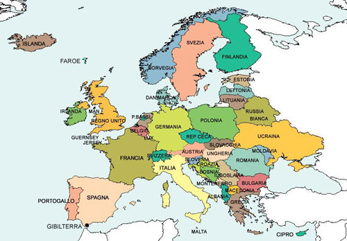 Cartina Europa Con Capitali E Stati.Guidare In Europa Regole E Abitudini Diverse Da Paese A Paese
